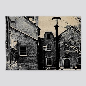 vintage church street light 5'x7'Area Rug
